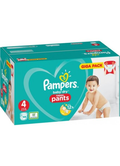 Pampers Baby Dry Pants размер 4 108 бр