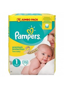 PAMPERS Premium Protection Размер 1 ПАМПЕРС ПЕЛЕНИ 2-5 КГ 72 БР