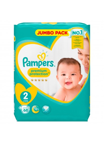 Pampers Premium Protection размер 2 68 бр топ цена 19,60 лв.
