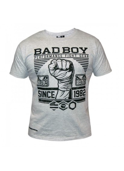 Bad Boy First Design Tee (Grey) Сива тениска с щампа Bad Boy