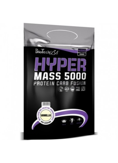 Biotech usa hyper mass 5000 1 кг гейнър за маса с добавен креатин