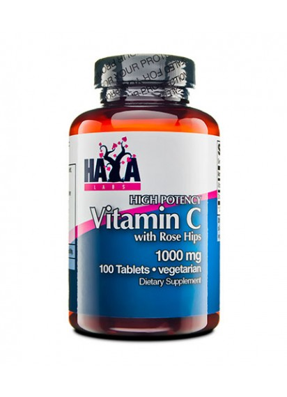 Haya labs high potency vitamin c 1,000mg with rose hips
