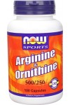 NOW Arginine & Ornithine (Аргинин и орнитин)