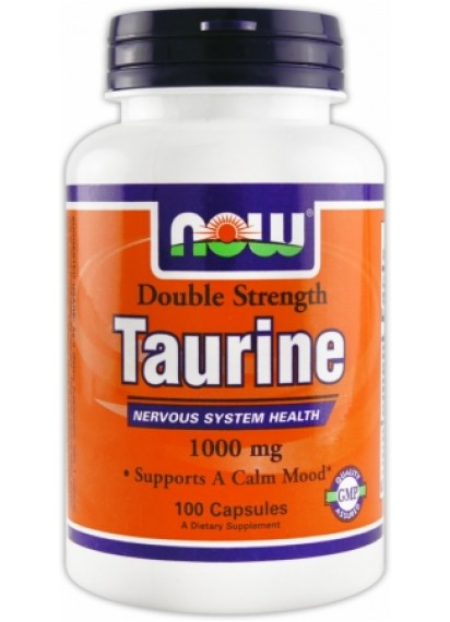 NOW Double Strength Taurine 1000 mg 100 caps (Таурин)