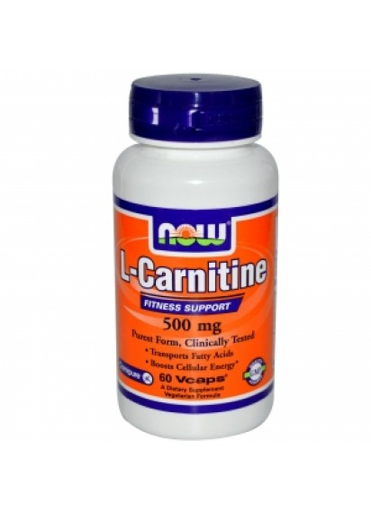 NOW L-Carnitine Fitness Support 500 mg 60 vcaps