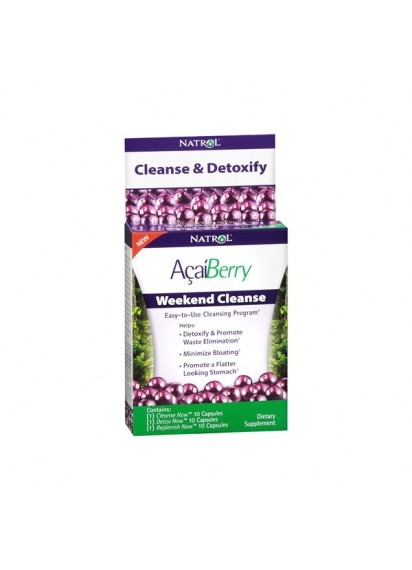 Natrol acai berry weekend cleanse добавка за детоксикация и подут стомах