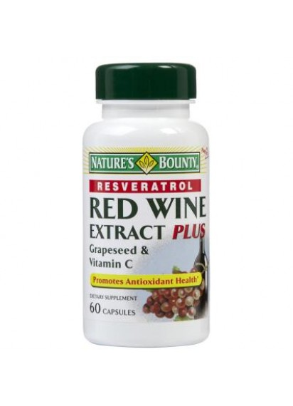 Natures Bounty resveratrol red wine extract Червено вино екстракт