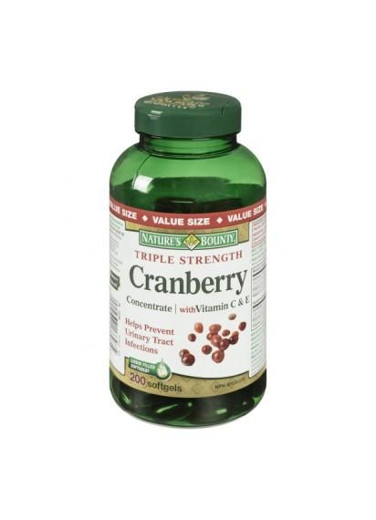 Natures bounty Triple Strength Cranberry Vit.C екстракт от червена боровинка
